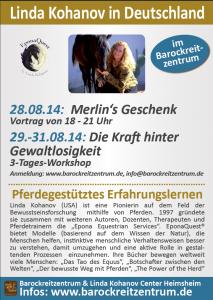 Plakat Linda Kohanov Tour 14